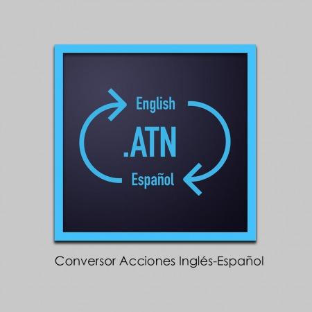 Conversor de acciones Photoshop Ingles Español